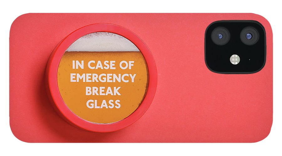 Coral Colored IPhone 12 Case featuring the photograph Emergency Beer by Andrew Paterson