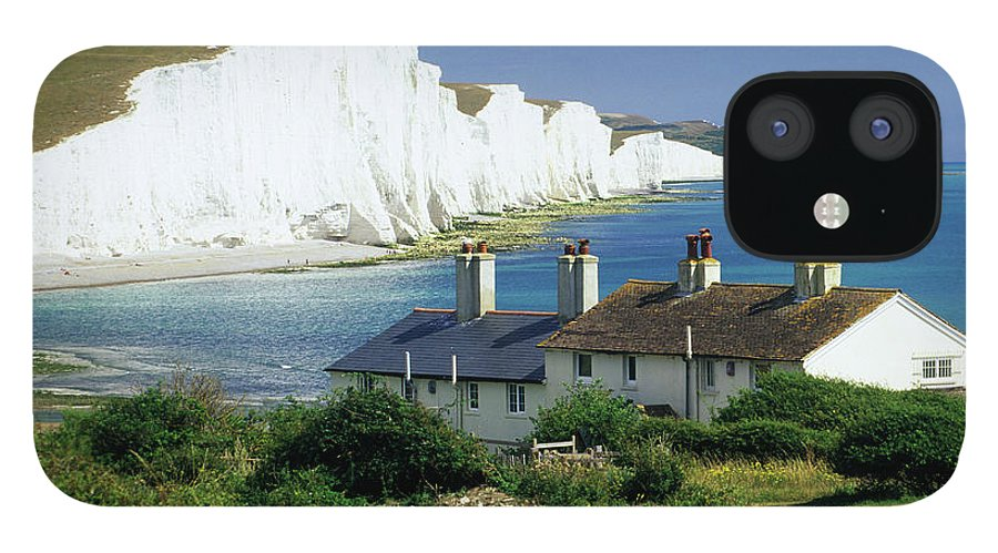 Scenics IPhone 12 Case featuring the photograph England, Sussex, Seven Sisters Cliffs by David C Tomlinson