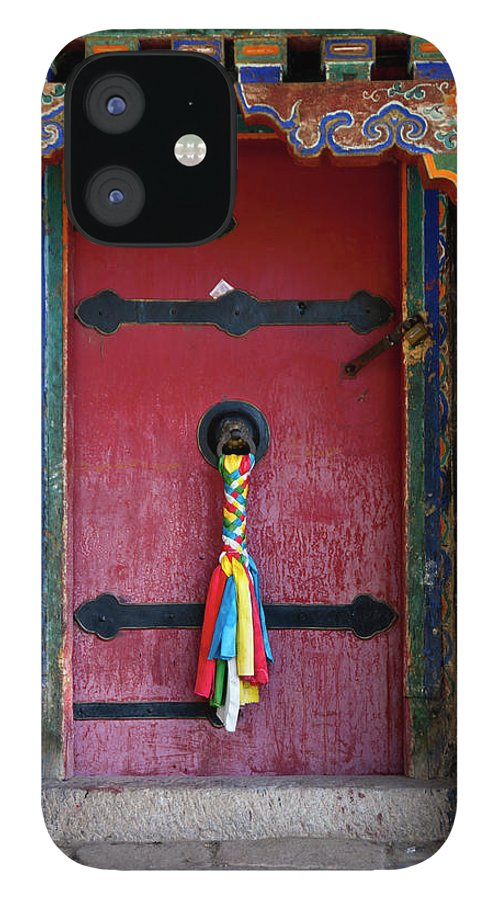 Chinese Culture IPhone 12 Case featuring the photograph Entrance To The Tibetan Monastery by Hanhanpeggy