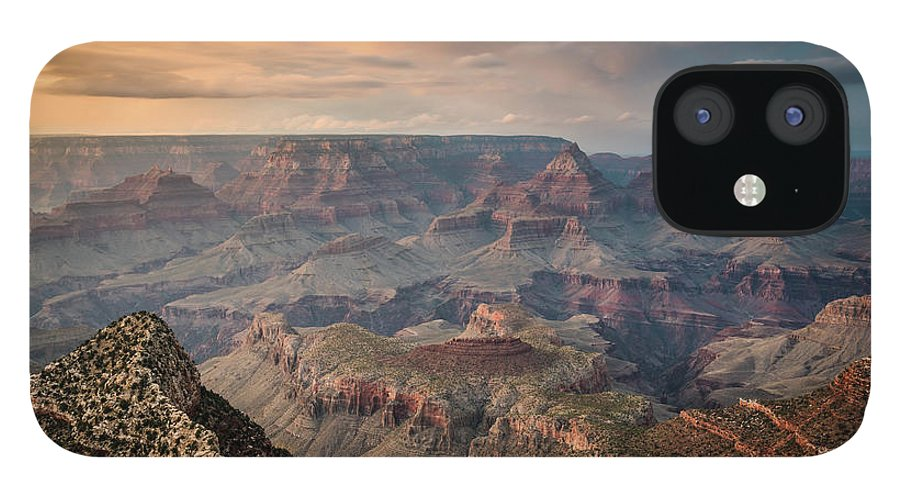 Majestic IPhone 12 Case featuring the photograph Epic Sunset Over Grand Canyon South Rim by Wayfarerlife Photography