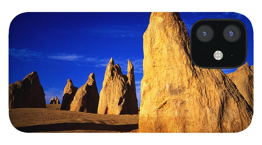 Toughness iPhone 12 Case featuring the photograph Eroded Rock Formations, Pinnacles by John Banagan