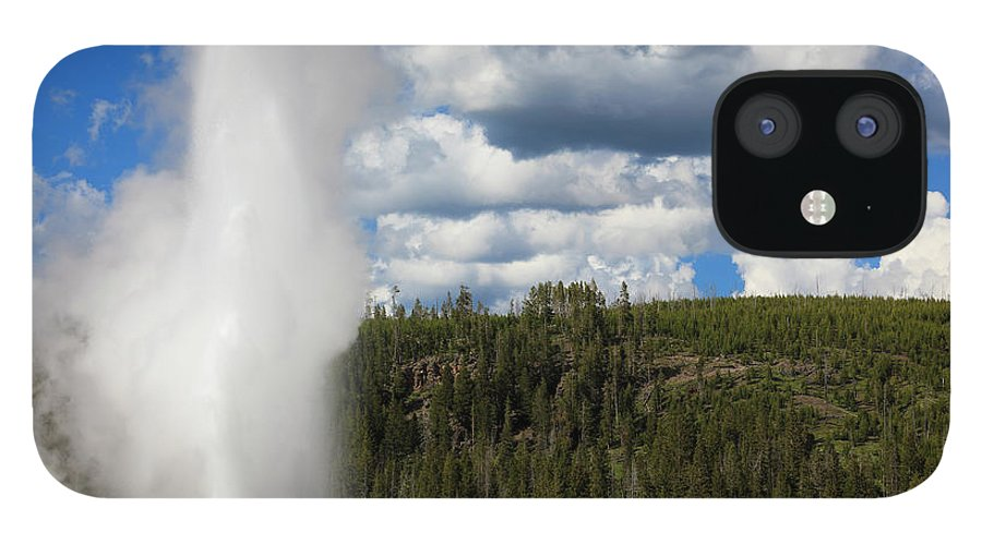 Geyser IPhone 12 Case featuring the photograph Eruption Of Old Faithful Geyser In by Pawel.gaul