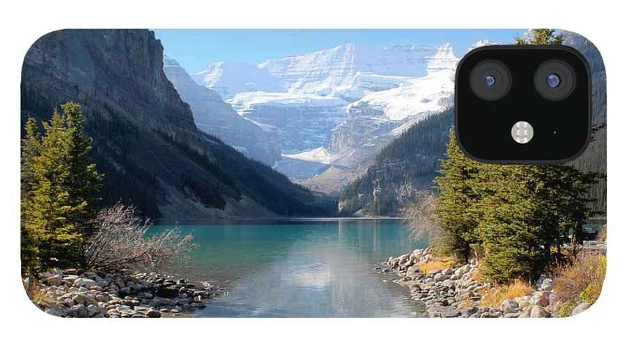 Tranquility IPhone 12 Case featuring the photograph Fall At Lake Louise , Alberta, Canada by Cynthia Russell Photography