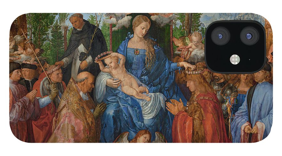 Saint IPhone 12 Case featuring the painting Feast of the Rose Garlands, 1506 by Albrecht Durer