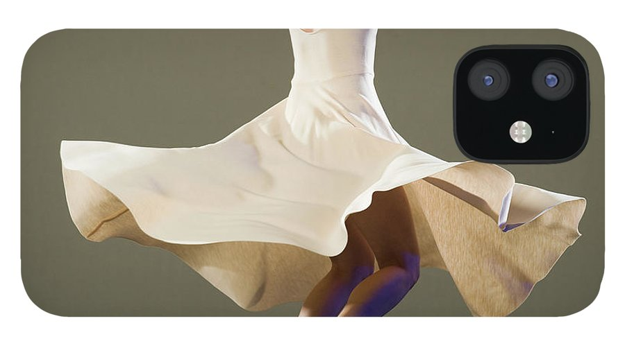Ballet Dancer IPhone 12 Case featuring the photograph Female Ballet Dancer Dancing by Erik Isakson