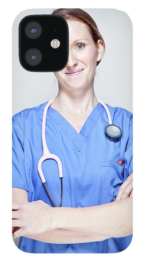 People IPhone 12 Case featuring the photograph Female Doctor by James Whitaker