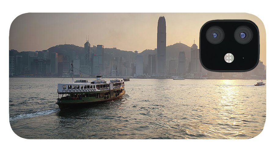 Chinese Culture IPhone 12 Case featuring the photograph Ferry Boat To Hong Kong by Simonbradfield
