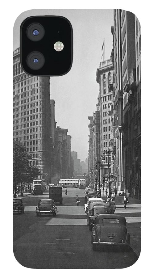 1950-1959 IPhone 12 Case featuring the photograph Fifth Ave. And The Flatiron Bldg by George Marks