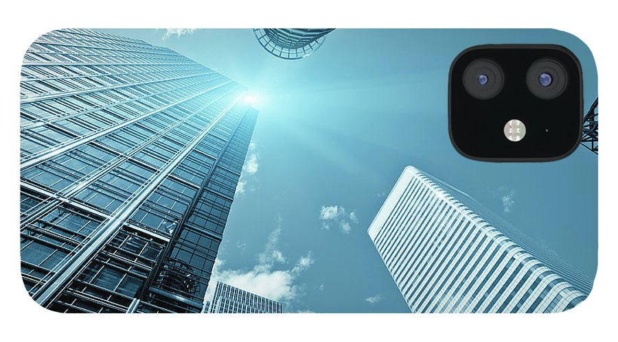 Working iPhone 12 Case featuring the photograph Financial District, Canary Wharf In by Zodebala