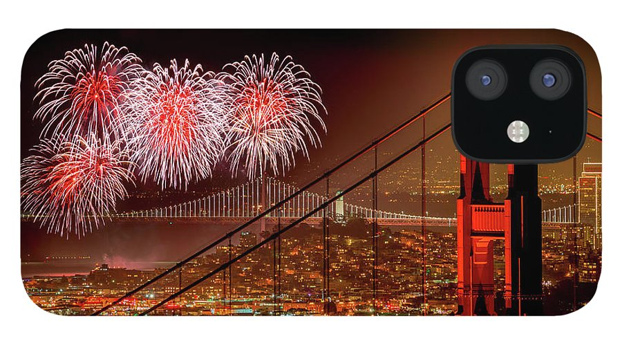 San Francisco IPhone 12 Case featuring the photograph Firework At San Francisco, California by Spondylolithesis