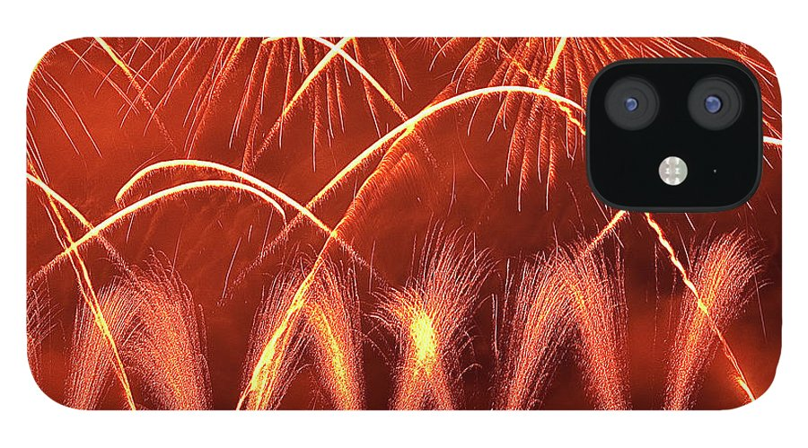 Firework Display IPhone 12 Case featuring the photograph Fireworks Over West Lake, Hangzhou by William Yu Photography