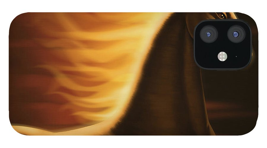 Horse iPhone 12 Case featuring the digital art Flaming Horse by Id-work