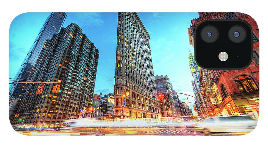 Outdoors IPhone 12 Case featuring the photograph Flatiron by Tony Shi Photography
