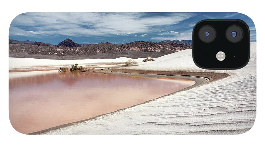 Sand Dune IPhone 12 Case featuring the photograph Flooded Dunes At Death Valley National by Gary Koutsoubis