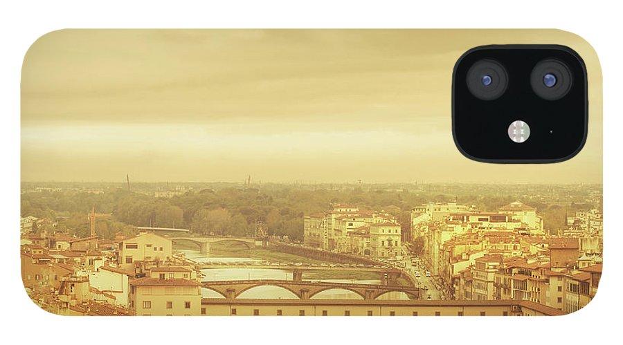 Palazzo Vecchio IPhone 12 Case featuring the photograph Florence, Ponte Vecchio by Deimagine