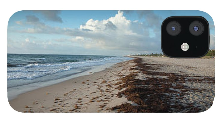Scenics IPhone 12 Case featuring the photograph Florida Beach With Gentle Waves And by Drnadig