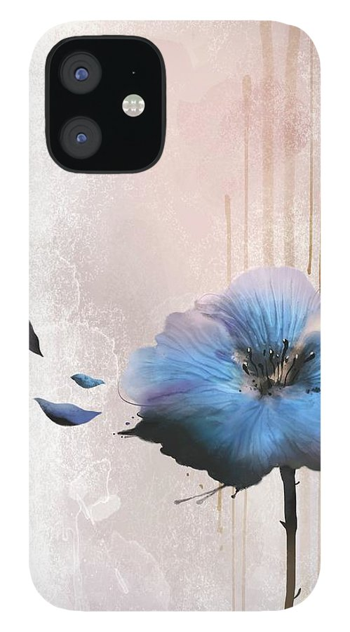 White Background IPhone 12 Case featuring the digital art Flower On White Background by Ivary
