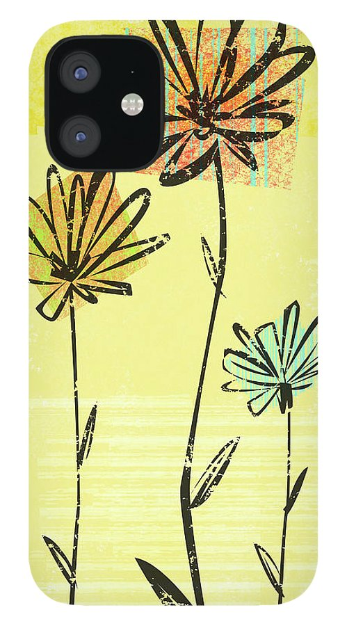 California IPhone 12 Case featuring the digital art Flowers In Springtime by Harry Briggs