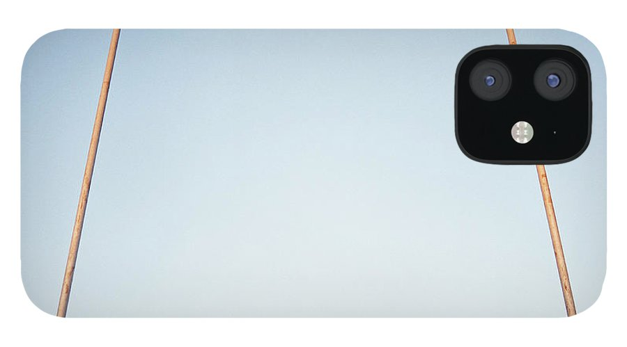 Goal IPhone 12 Case featuring the photograph Football Goal Post by Mike Powell