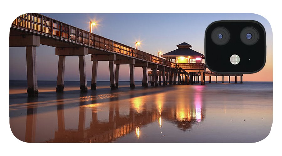 Built Structure IPhone 12 Case featuring the photograph Fort Myers Beach, Florida by Jumper