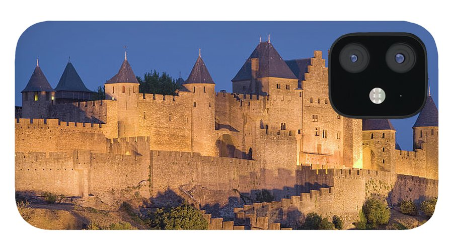 Majestic IPhone 12 Case featuring the photograph France, Languedoc, Carcassonne, Castle by Martin Child