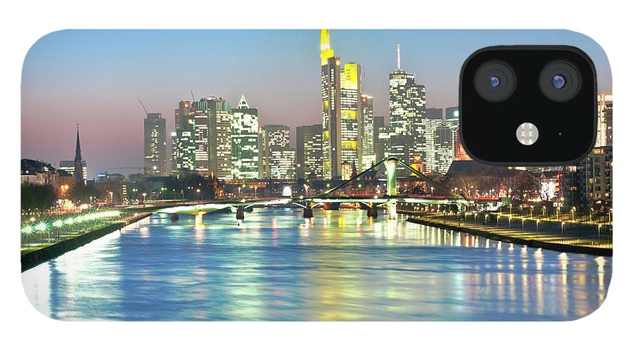 Hesse IPhone 12 Case featuring the photograph Frankfurt Night Skyline by Ixefra