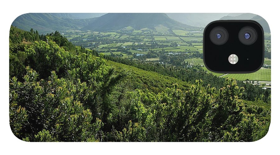 South Africa IPhone 12 Case featuring the photograph Franschhoek Valley by Ruvanboshoff