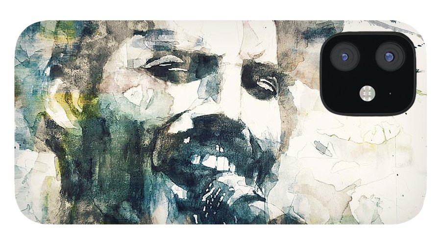 Queen IPhone 12 Case featuring the painting Freddie Mercury - Killer Queen by Paul Lovering