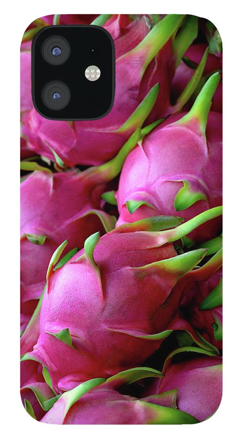 Thailand IPhone 12 Case featuring the photograph Fresh Dragon Fruit For Sale In A Thai by Enviromantic