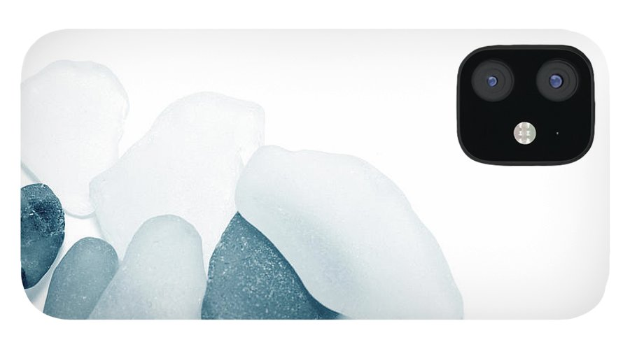 Cool Attitude IPhone 12 Case featuring the photograph Fresh Glass Stones by Caracterdesign