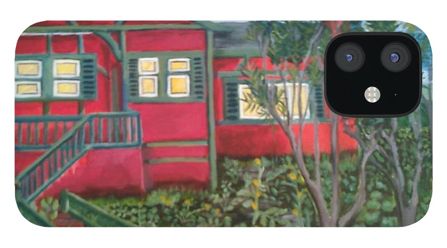 Painting Of House IPhone 12 Case featuring the painting Fresh yard by Andrew Johnson