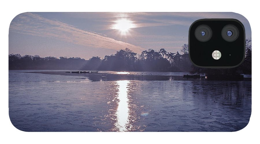Lake IPhone 12 Case featuring the photograph Frozen by Claire Lowe