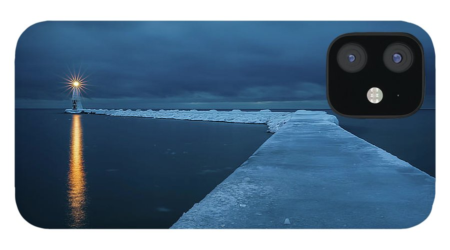Tranquility IPhone 12 Case featuring the photograph Frozen Path by John Fan Photography