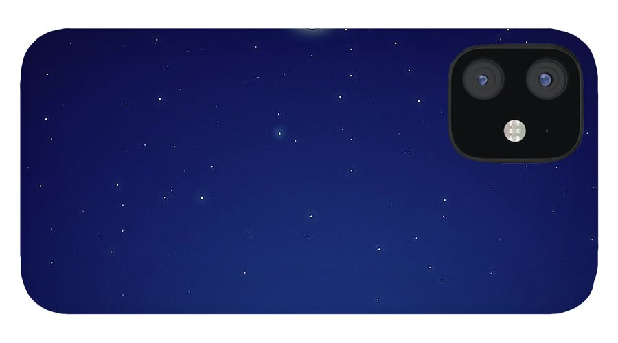 Constellation IPhone 12 Case featuring the photograph Full Moon Over New Hampshire by Soubrette