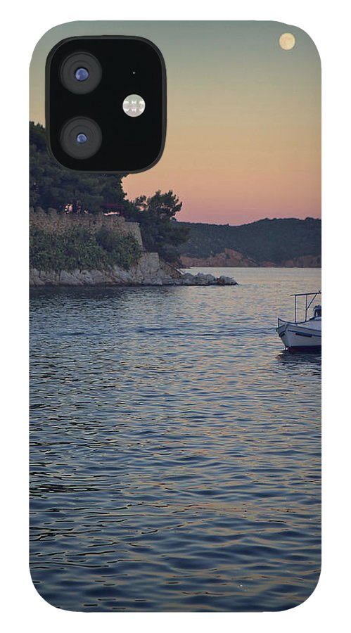 Tranquility iPhone 12 Case featuring the photograph Full Moon Rising by Dreaming For A Living