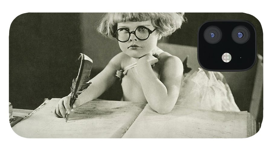 Innocence IPhone 12 Case featuring the photograph Future Writer by Everett Collection