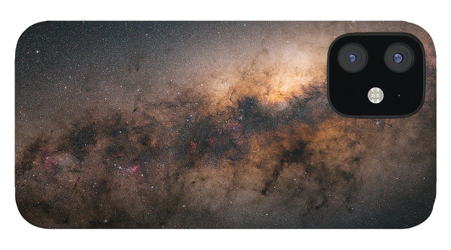 Stars IPhone 12 Case featuring the photograph Galactic Core by Bartosz Wojczynski
