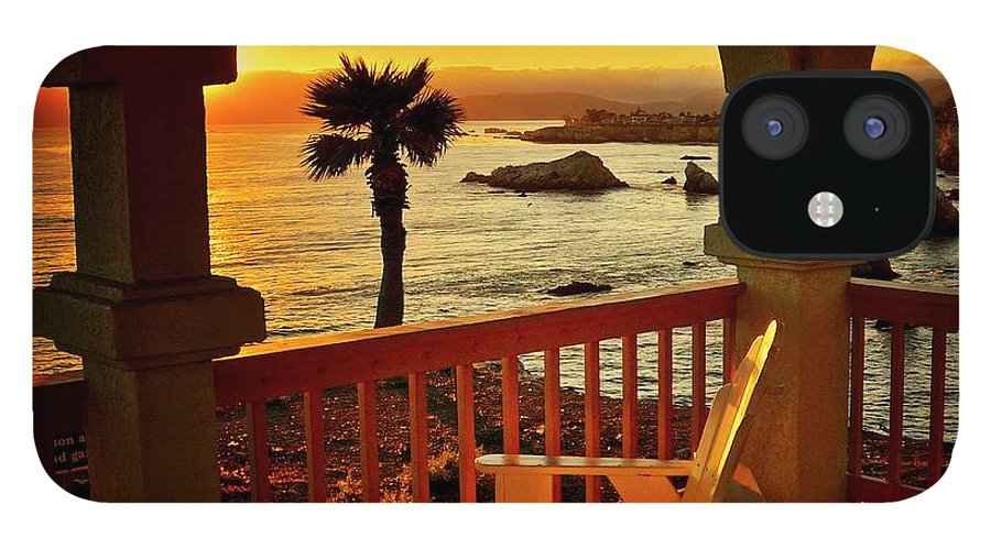 Nature iPhone 12 Case featuring the photograph Gazebo View of Central California Coast by Zayne Diamond Photographic