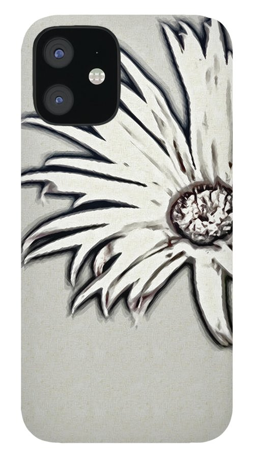 Rockville IPhone 12 Case featuring the photograph Gerbera Flower Shape by Maria Mosolova