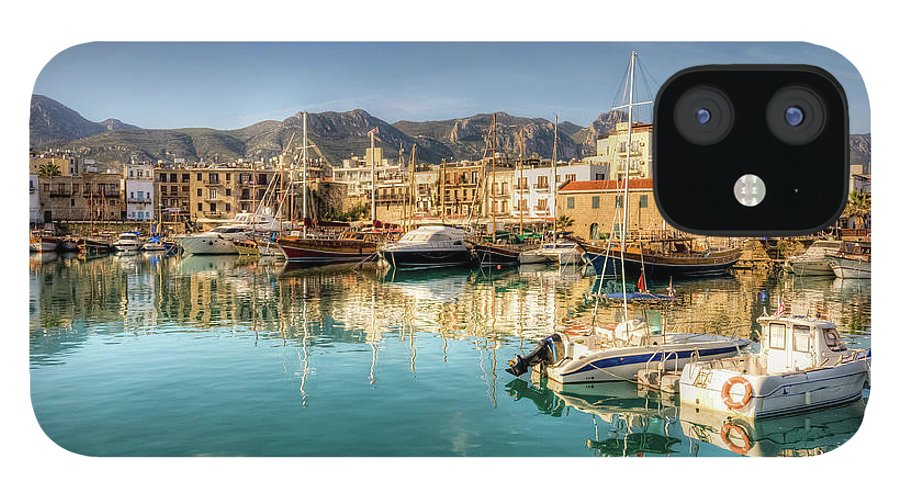 Tranquility IPhone 12 Case featuring the photograph Girne Kyrenia , North Cyprus by Nejdetduzen