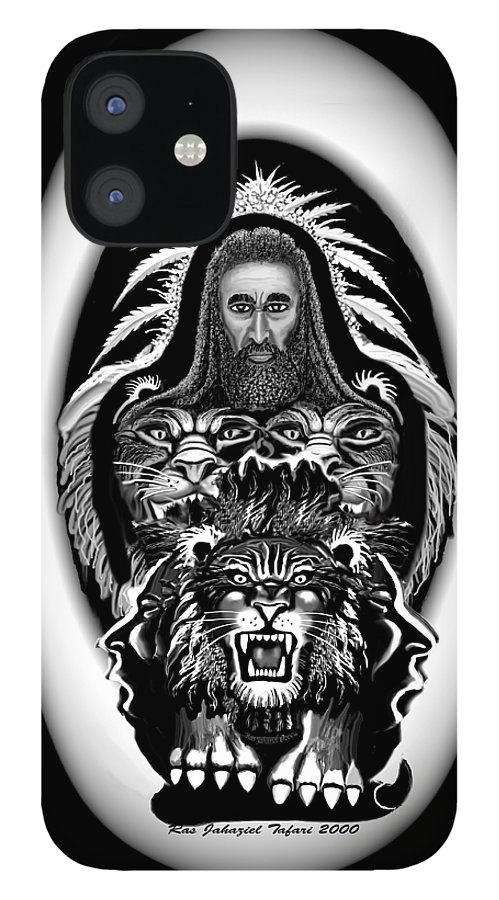 Pastel Chalk IPhone 12 Case featuring the drawing Give Us The Truth 2 by Ras Tafari