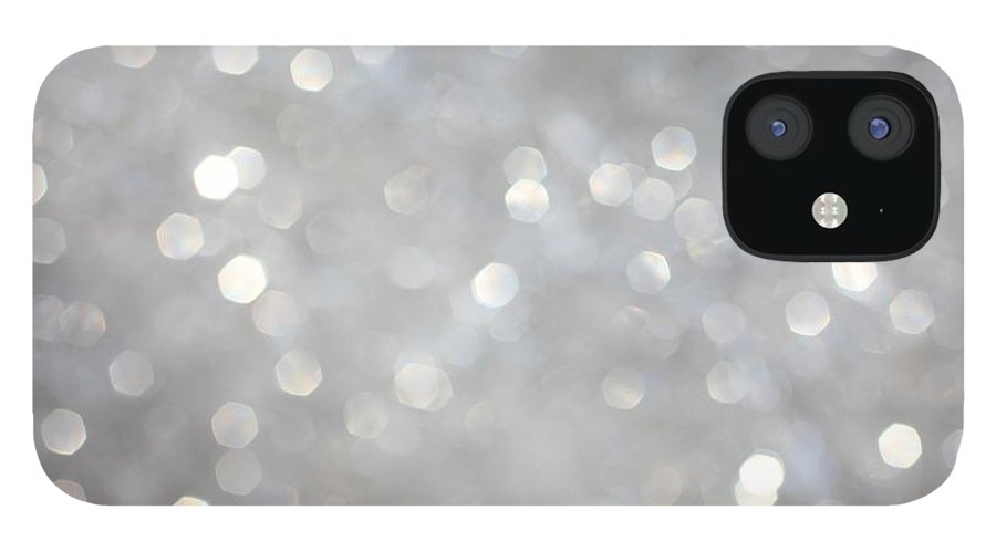 Holiday IPhone 12 Case featuring the photograph Glittery Background by Merrymoonmary