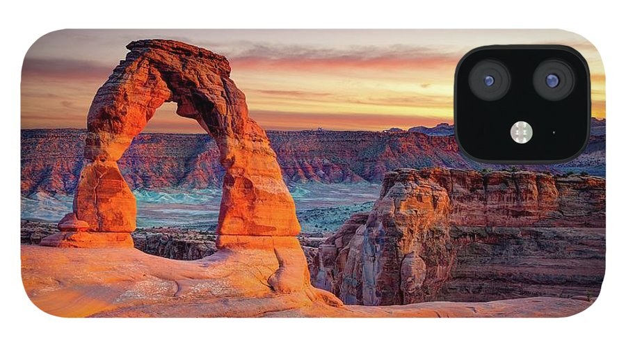 Scenics IPhone 12 Case featuring the photograph Glowing Arch by Mark Brodkin Photography