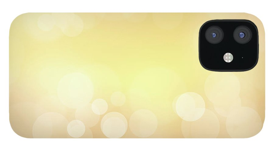 Backdrop iPhone 12 Case featuring the photograph Golden Glitter by Kwaigon
