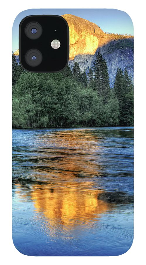 Scenics IPhone 12 Case featuring the photograph Golden Light On Half Dome by Mimi Ditchie Photography