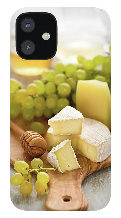 Cheese IPhone 12 Case featuring the photograph Grape, Honey And Cheese by Verdina Anna