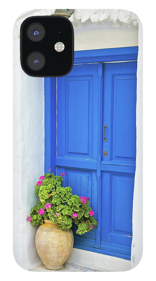 Greek Culture IPhone 12 Case featuring the photograph Greek Island Doorway by Abzee