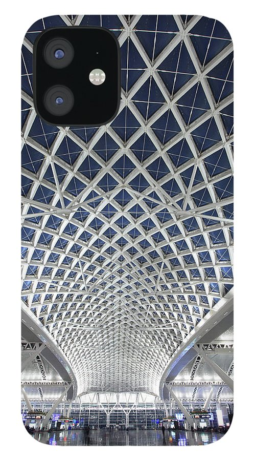 Chinese Culture IPhone 12 Case featuring the photograph Guangzhou Railway Station by Real444