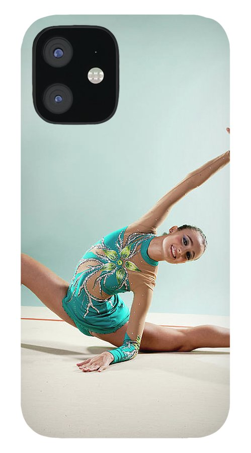 Human Arm IPhone 12 Case featuring the photograph Gymnast, Smiling, Bending Backwards by Emma Innocenti