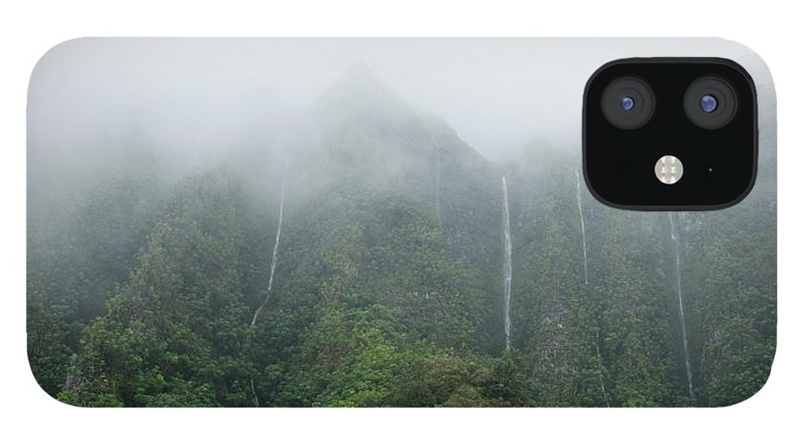 Waterfall IPhone 12 Case featuring the photograph H3 Waterfalls by Cameron Brooks